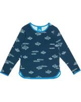 Finkid T-Shirt Langarm Print VALO majolica/blue 1532002-160103