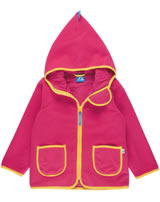 Finkid Zwergen Fleecejacke Zip In TONTTU cherry/banana 3023042-232602
