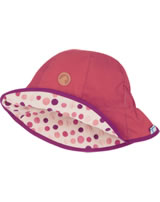 Finkid Wende-Hut Fischerhut DOTTI cranberry/pebbles red 1622007-505251