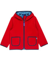 Finkid Zwergen Fleecejacke Zip in TONTTU red/denim 3023069-200113