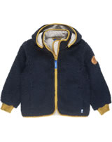 Finkid Zwergen Fleecejacke Zip in TONTTU TEDDY navy/harvest gold 3023071-100603