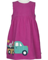 Frugi Kord-Kleid LILY Flamingo/Flower Truck pink DRA903FKT
