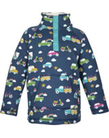 Frugi Pullover Snuggle Fleece m. Teddyfutter RAINBOW ROADS space blue
