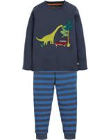 Frugi Pyjama Long John PJs Navigator DINO space blue PJA955SPJ