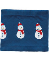 Frugi Strick-Schlauchschal Loop ROBYN SNOOD Snowman space blue
