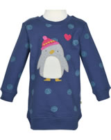 Frugi Sweat-Kleid Eloise Langarm PINGUIN true blue DRA853TWP