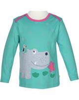 Frugi T-Shirt Bobby Langarm HIPPO topaz blue Polka/HIPPO TTA903TZH
