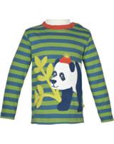 Frugi T-Shirt Discovery Langarm PANDA meadow stripe/Panda TTA957MEP