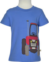Frugi T-Shirt Kurzarm James TRAKTOR sail blue TTS960SUT