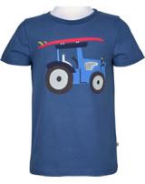 Frugi Shirt manches cortes Stanley TRAKTOR marine blue TTS972MBO