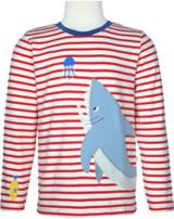Frugi T-Shirt Langarm JOE HAI tomato breton TTS961TCS