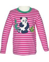 Frugi T-Shirt Langarm PANDA flamingo breton TTA957FBD