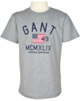 GANT Kinder-T-Shirt Kurzarm RETRO FLAG grey melange