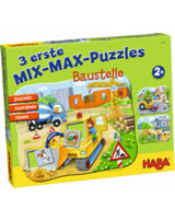 HABA 3 erste Mix-Max-Puzzles - Baustelle 301831