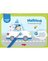 HABA Kreativ Kids - Malblock Einsatzfahrzeuge 304438
