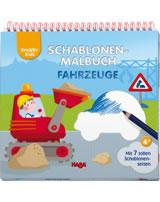 HABA Kreativ Kids - Schablonen-Malbuch Fahrzeuge 304643