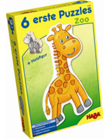 HABA 6 erste Puzzles - Zoo inkl. Holzfigur 4276