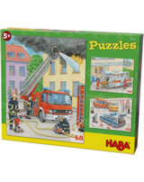 HABA Puzzles – Véhicules d´intervention 304218