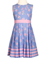 Happy Girls Sommer-Kleid Blumen blau-rosa 971397-60