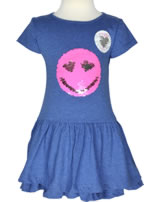 Happy Girls Kurzarm-Kleid mit Wende-Pailetten SMILEY blue 981416-60