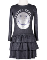 Happy Girls Langarm-Kleid mit Wende-Pailetten SMILEY navy 973178-62