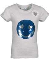 Happy Girls T-Shirt Kurzarm mit Wende-Pailetten SMILEY light grey 781309-81