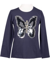 Happy Girls T-Shirt Langarm mit Wende-Pailetten SCHMETTERLING navy 773105-62