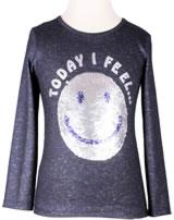 Happy Girls T-Shirt Langarm mit Wende-Pailetten SMILEY navy 773116-62