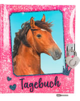 Horses Dreams Tagebuch Pailletten-Optik pink
