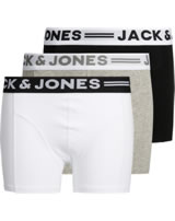 Jack & Jones Junior 3er-Pack Boxershorts NOOS light grey/melange black 12149293