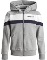Jack & Jones Junior Hoodie Kapuzenjacke light grey melange 12159309