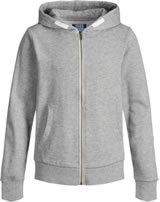 Jack & Jones Junior Hoodie Jacket NOOS light grey melange 12148625