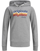 Jack & Jones Junior Hoodie Kapuzenpullover JORVENTURE light grey m. 12168371