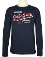 Jack & Jones Junior T-Shirt Langarm NOOS navy blazer 12154561