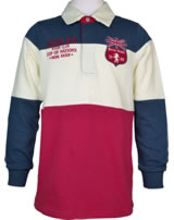 Tom Joule Polo-Shirt Langarm RUGBY dunkelblau/cream/red V_JNRWINNE-RED