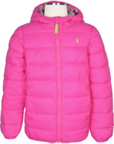 Tom Joule Padded jacket with a hoodie neon pink V_JNRKINNAIRD-PI