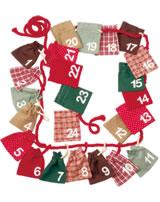 Käthe Kruse Adventskalender Taschen mit Zahlen 0473451
