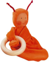 Käthe Kruse Greifling Rainbow Baby orange 74175