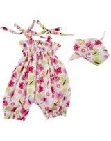 Käthe Kruse Kleidung Baby-Puppe 30-33 cm Jumpsuit Schmetterlinge 0130810