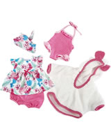 Käthe Kruse Kleidung Baby-Puppe 30-33 cm Strand Outfit 0130804