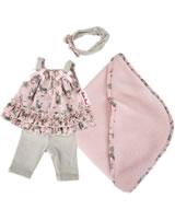 Käthe Kruse Kleidung Baby-Puppe 30-33 cm Strandkleid Leopardenmotiv 0130806