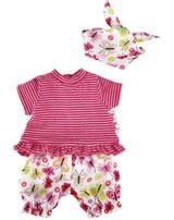 Käthe Kruse Kleidung Baby-Puppe 30-33 cm T-Shirt/Schmetterlings-Shorts 0136808