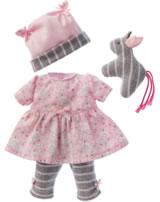 Käthe Kruse Kleidung Baby-Puppe 30-33cm Kleid mit Leggings 0136802
