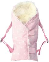 Käthe Kruse Puppen-Tragetasche rosa mit Fell 0179337