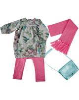Käthe Kruse Puppenbekleidung Lolle Sweatkleid grau/Ringellegging 0154804