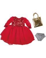 Käthe Kruse Puppenbekleidung Paillettenkleid mit Tasche 39 - 41 cm 0141818
