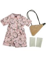 Käthe Kruse Puppenbekleidung Safari Outfit mit Trinkflasche 39 - 41 cm 0141816