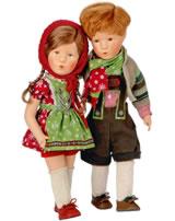 Käthe Kruse Puppe XIII Schwesterchen Sonja 47311 Abb. links