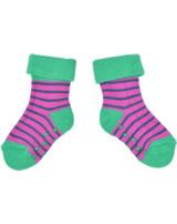 loud + proud Stopper-Socken Streifen fuchsia GOTS 822-fu