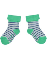 loud + proud Stopper-Socken Streifen grey GOTS 822-gr